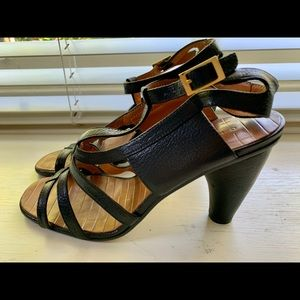Chie Mihara black leather sandals 38 Spain